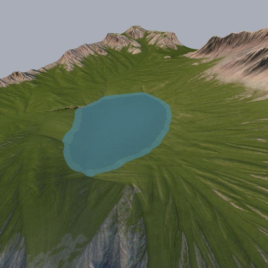 Berglandschaft royalty-free 3d model - Preview no. 10
