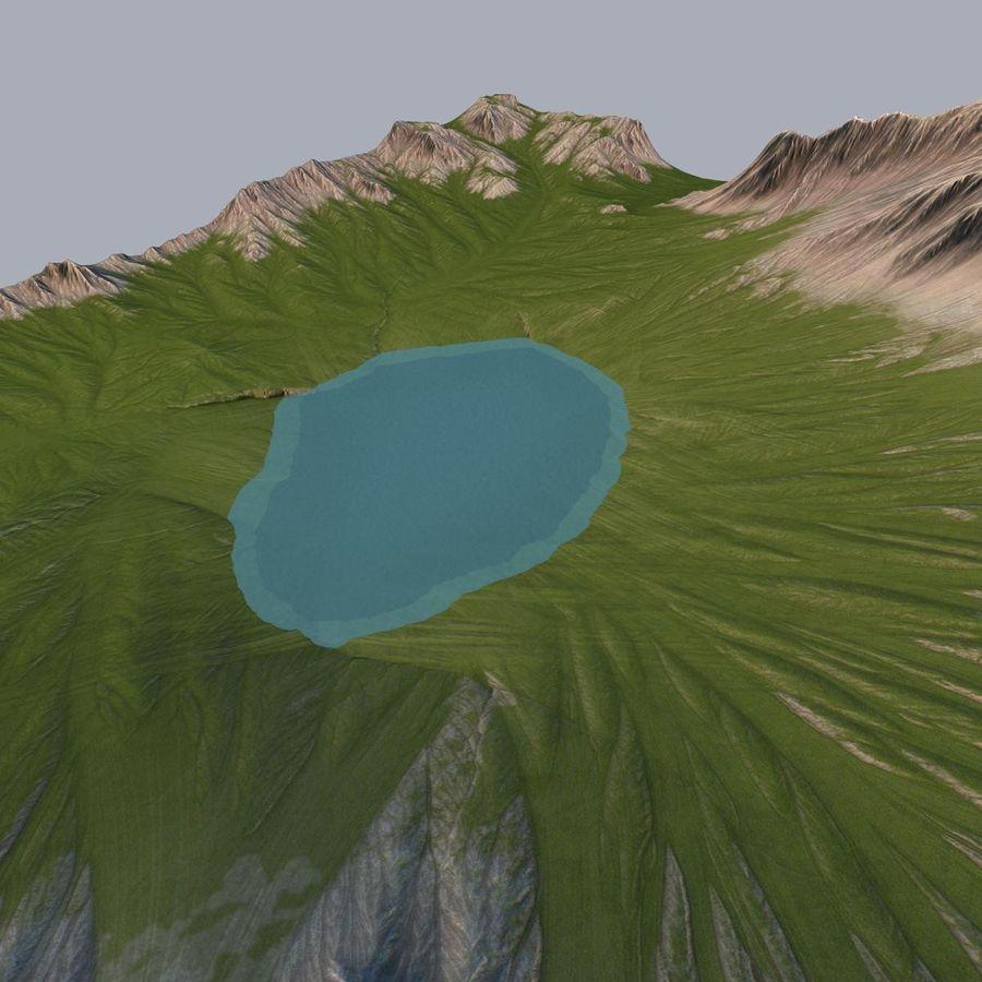 Berglandschap royalty-free 3d model - Preview no. 10