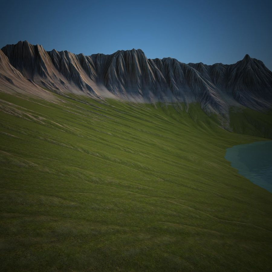 Berglandschaft royalty-free 3d model - Preview no. 8