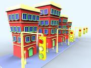 budynek kreskówka 3d model