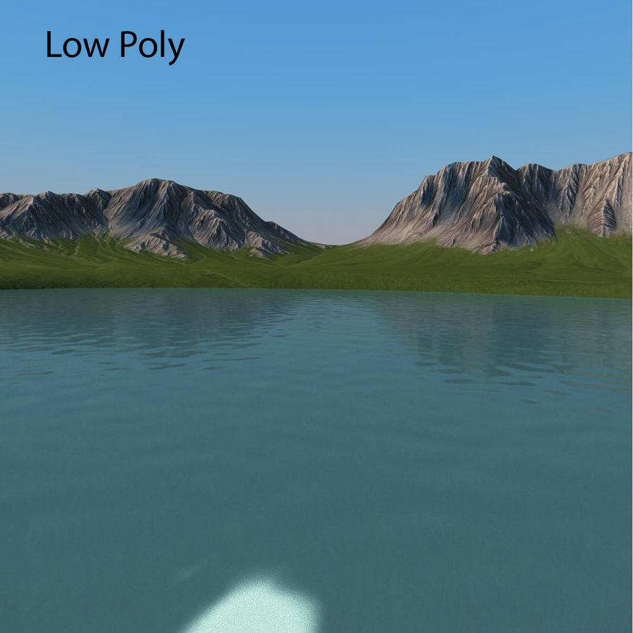 Mountain Landscape royalty-free 3d model - Preview no. 15