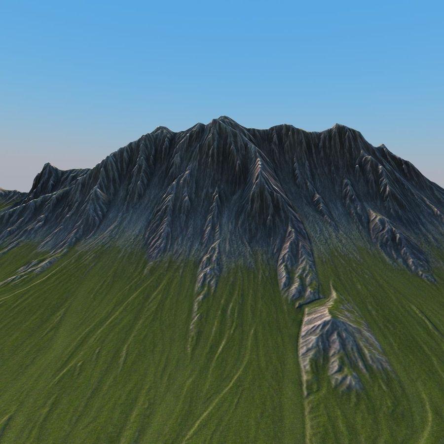 Mountain Landscape royalty-free 3d model - Preview no. 5