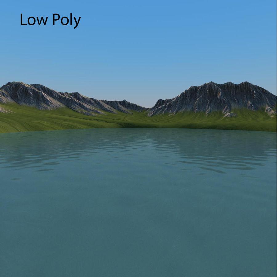 Mountain Landscape royalty-free 3d model - Preview no. 16