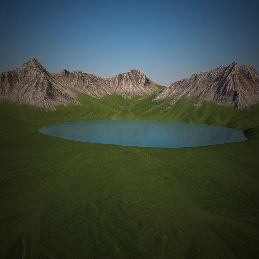 Mountain Landscape royalty-free 3d model - Preview no. 9