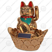 Maneki Neko japanese lucky cat 3d model