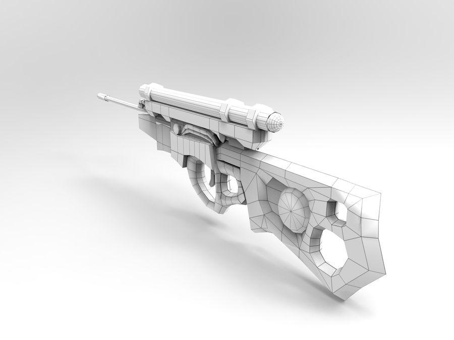arma moderna royalty-free modelo 3d - Preview no. 10