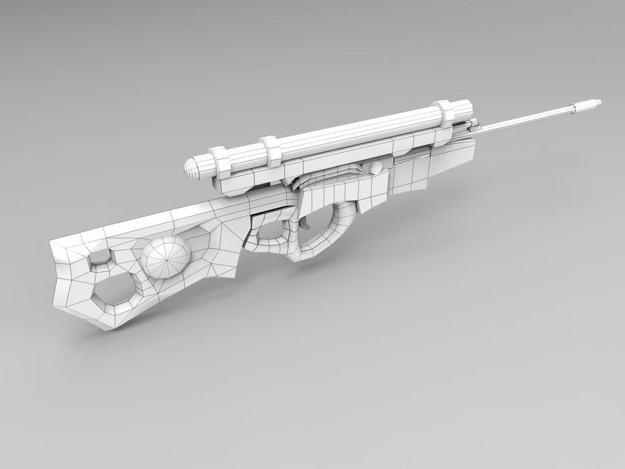 arma moderna royalty-free modelo 3d - Preview no. 11
