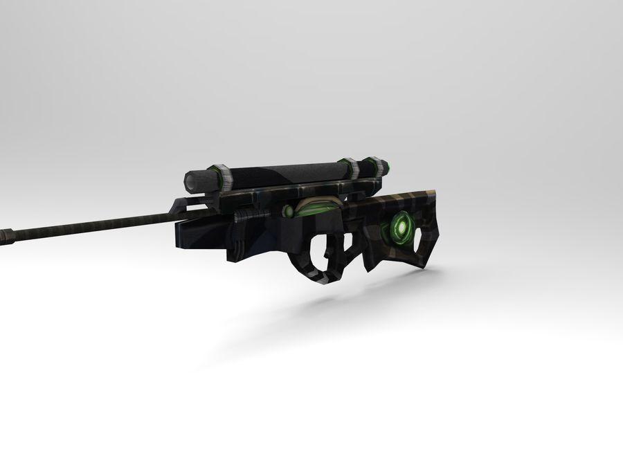 arma moderna royalty-free modelo 3d - Preview no. 8