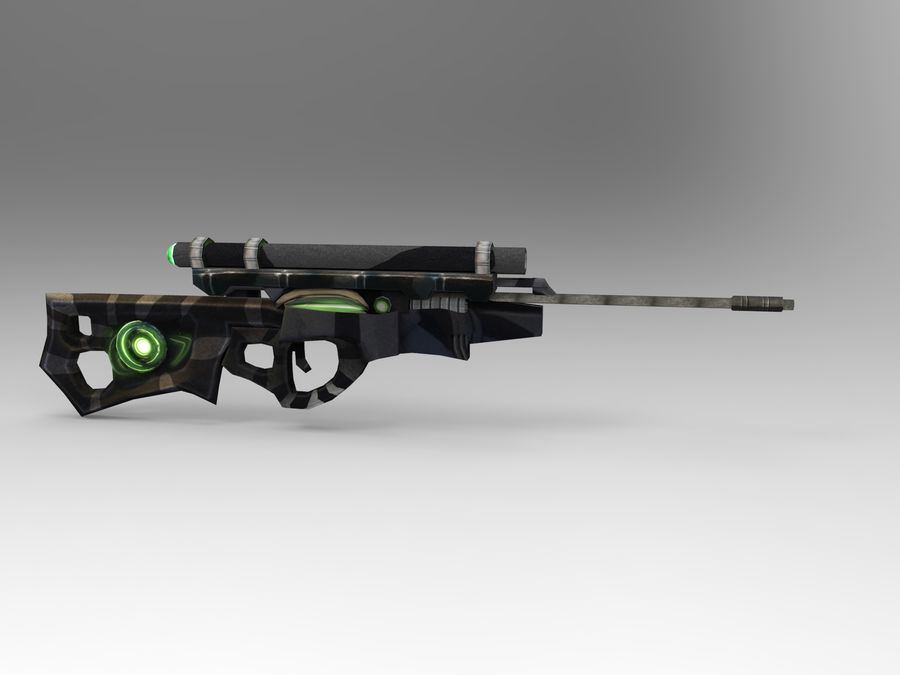arma moderna royalty-free modelo 3d - Preview no. 2