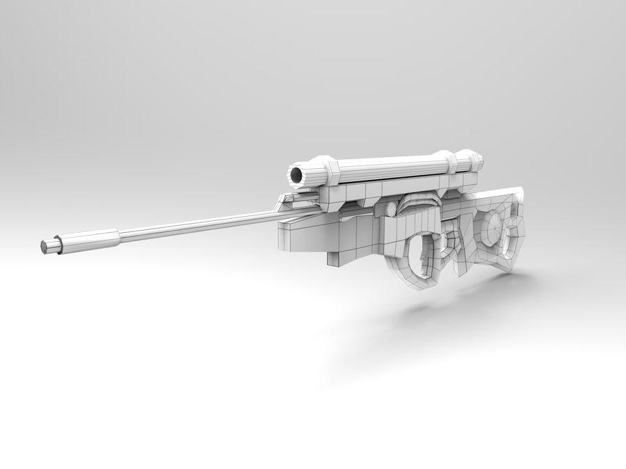 arma moderna royalty-free modelo 3d - Preview no. 9