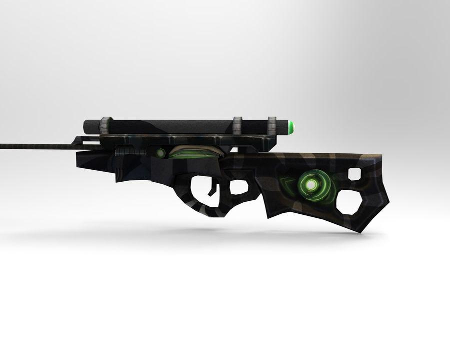 arma moderna royalty-free modelo 3d - Preview no. 7