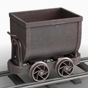 광산 카트 3d model