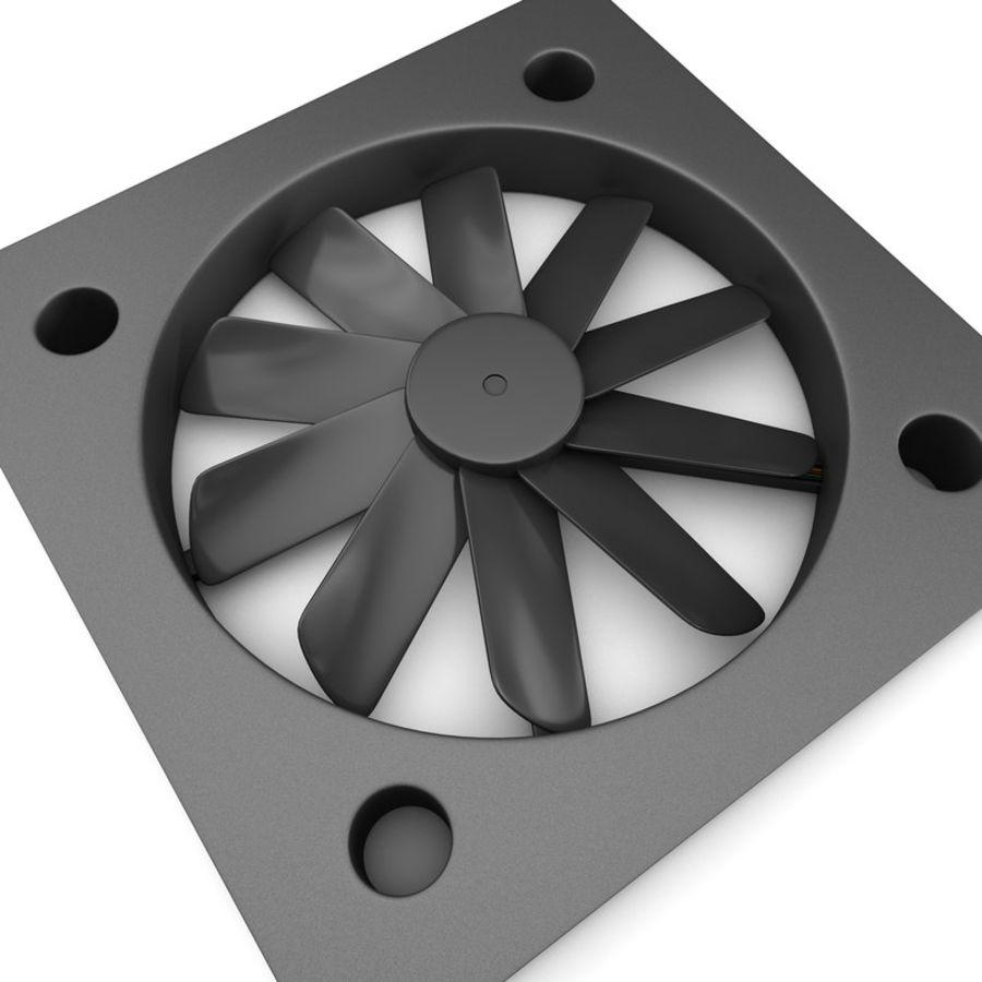 CPU fan royalty-free 3d model - Preview no. 2