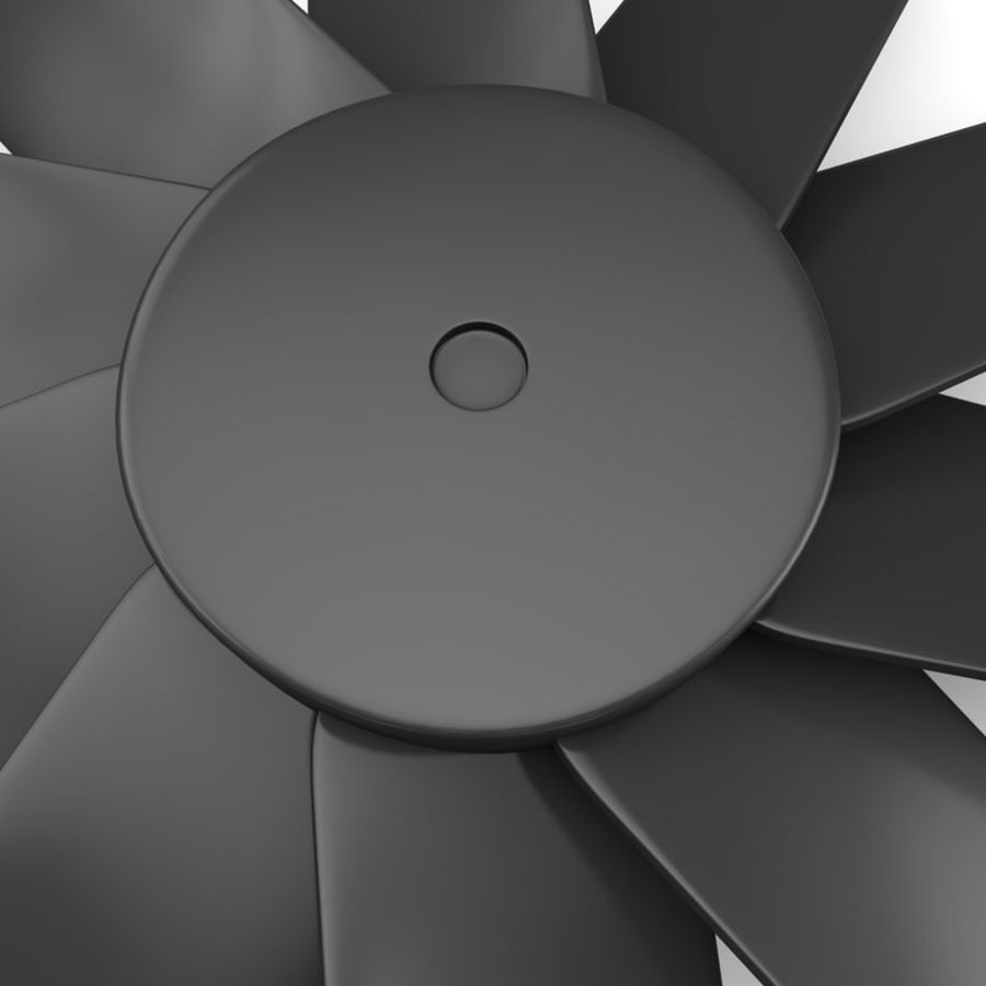CPU fan royalty-free 3d model - Preview no. 3