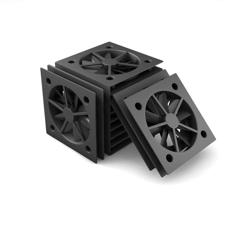 CPU fan royalty-free 3d model - Preview no. 1