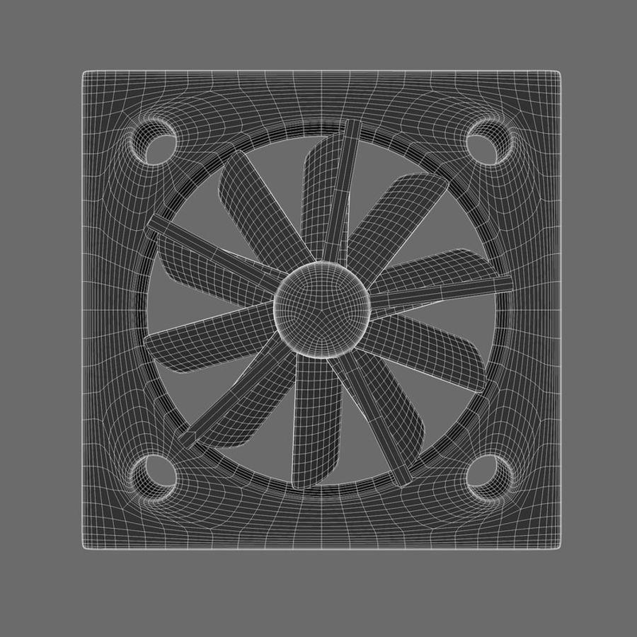 CPU fan royalty-free 3d model - Preview no. 12