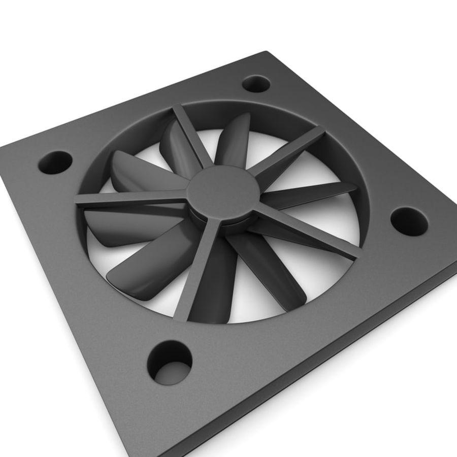 CPU fan royalty-free 3d model - Preview no. 8