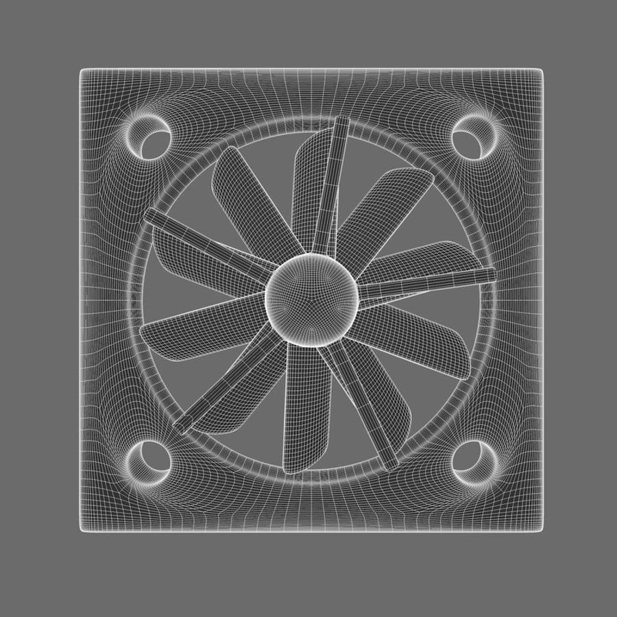 CPU fan royalty-free 3d model - Preview no. 13