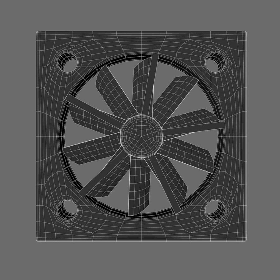 CPU fan royalty-free 3d model - Preview no. 11