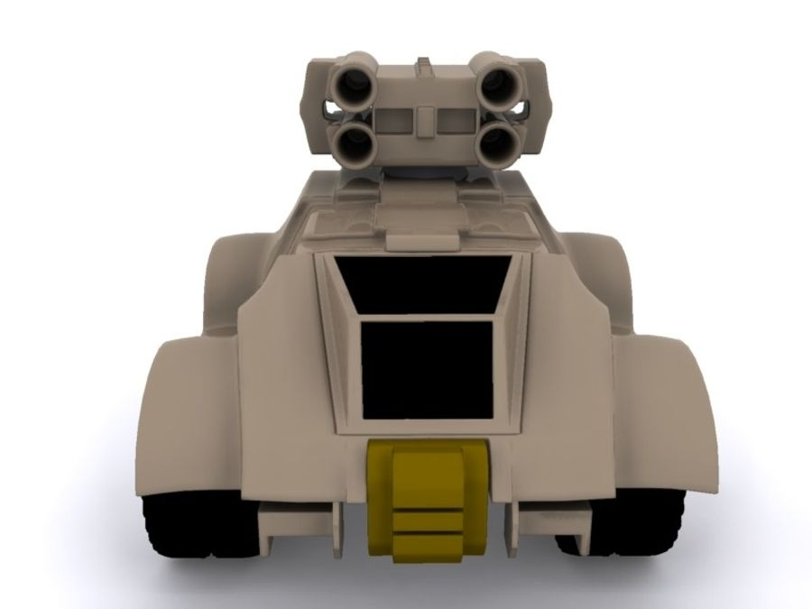 Military concept car royalty-free 3d model - Preview no. 8