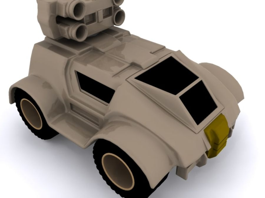 Military concept car royalty-free 3d model - Preview no. 4
