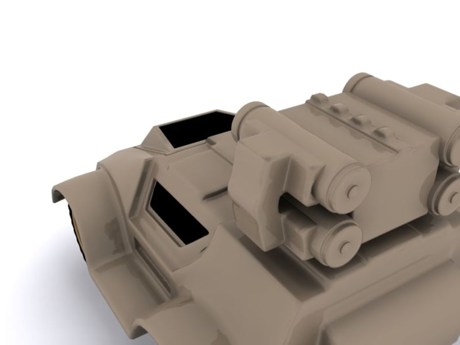 Military concept car royalty-free 3d model - Preview no. 7