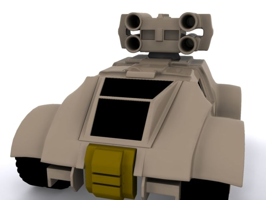 Military concept car royalty-free 3d model - Preview no. 3