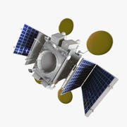 Artificial earth satellite 3d model