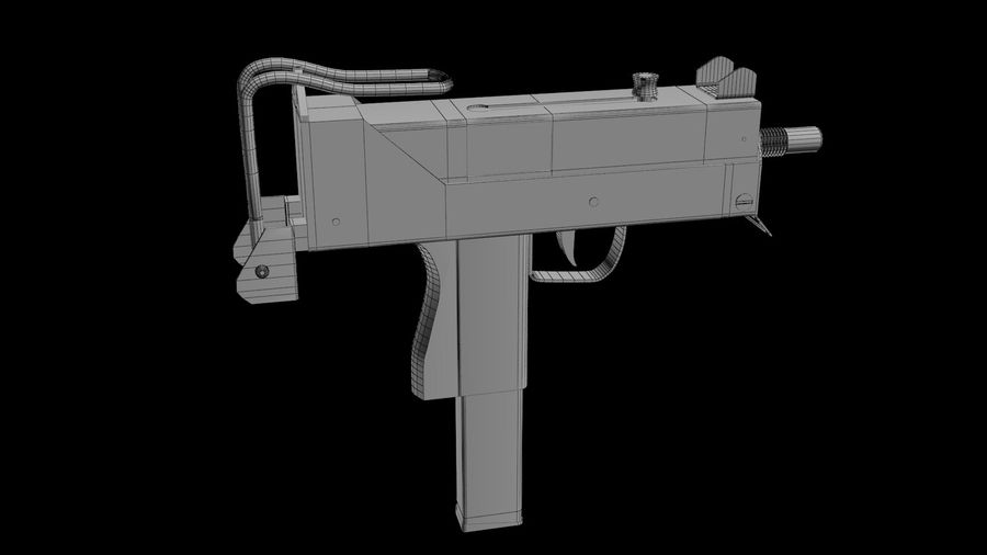 Micro Uzi royalty-free 3d model - Preview no. 6
