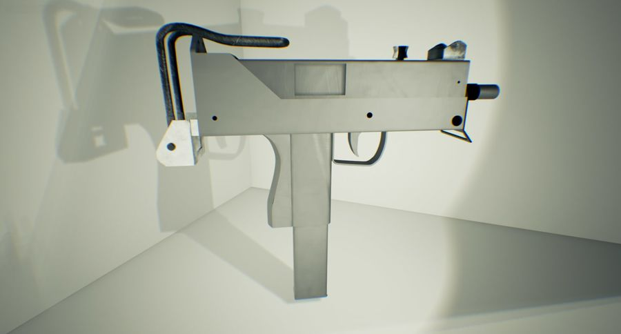 Micro Uzi royalty-free 3d model - Preview no. 4