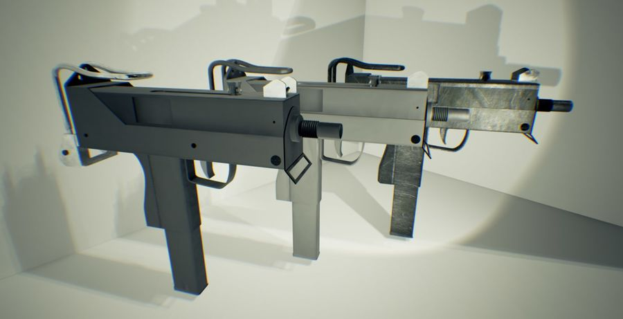 Micro Uzi royalty-free 3d model - Preview no. 1