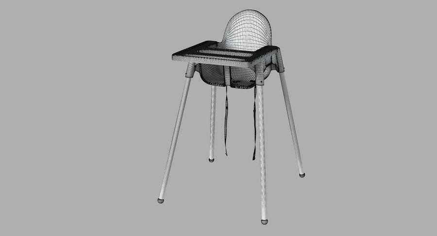 Ikea Antilop Highchair With Tray 3d Model 19 Fbx Max 3ds