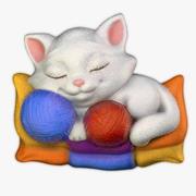 Bas-relief Kitten 3d model