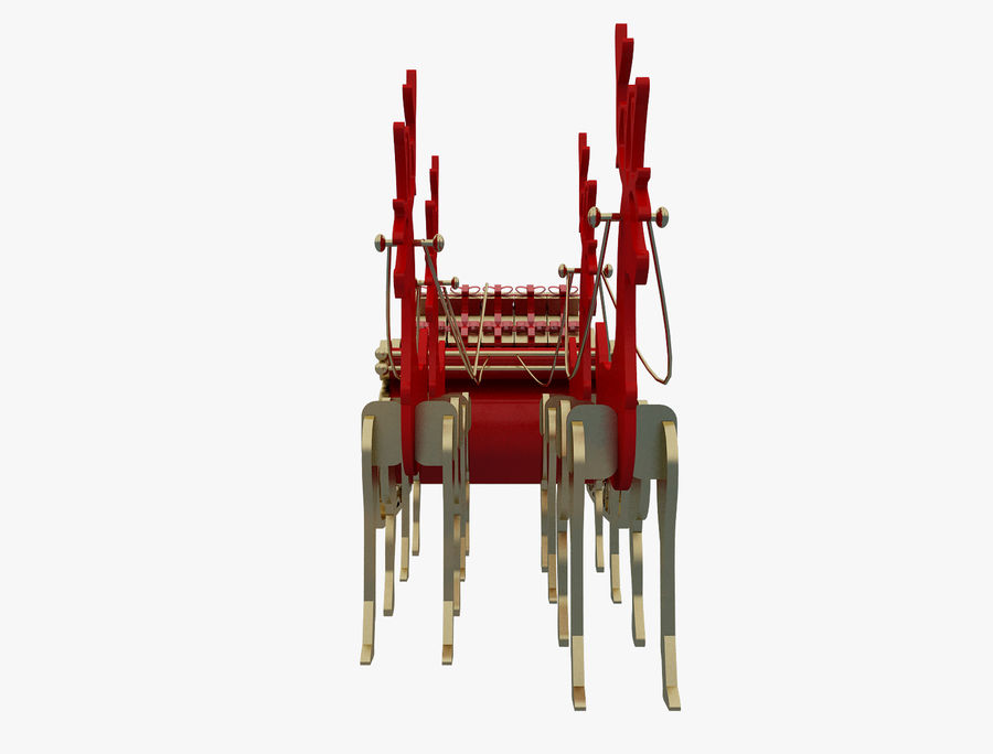 Christmas Sleigh a63 royalty-free 3d model - Preview no. 7