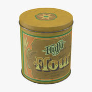 Vintage Metal Kitchen Tin - Flour 3d model