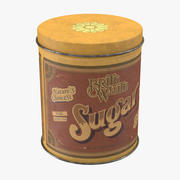 Vintage Metal Kitchen Tins Sugar 3d model