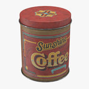 Vintage Metal Kitchen Tin Coffee 3d model