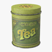 Vintage Metal Kitchen Tin Tea 3d model