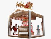 Christmas kiosk booth 3d model