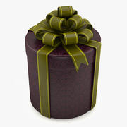 Gift Cylindrical Box 3d model