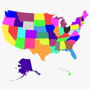 États américains 3d model