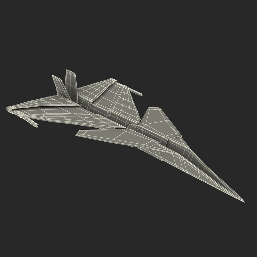 Paper Plane 4 Modèle 3D royalty-free 3d model - Preview no. 20