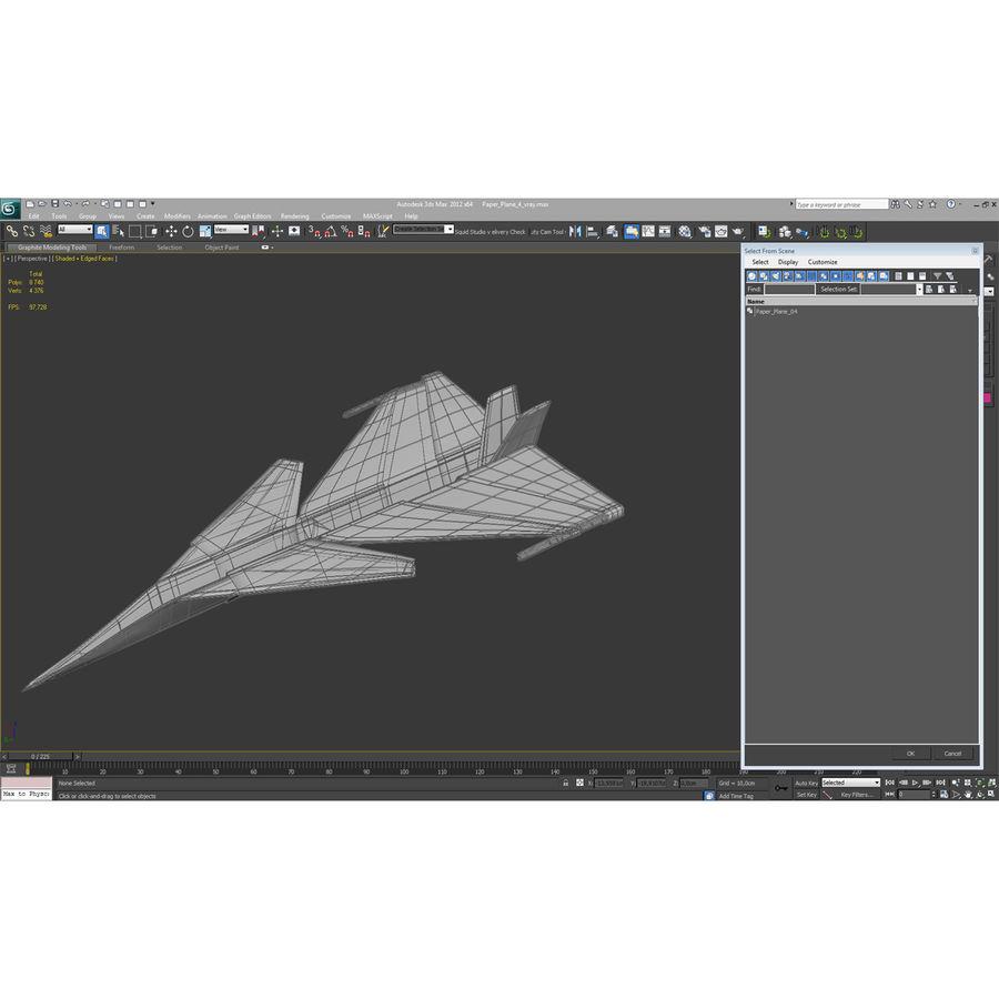 Paper Plane 4 Modèle 3D royalty-free 3d model - Preview no. 18