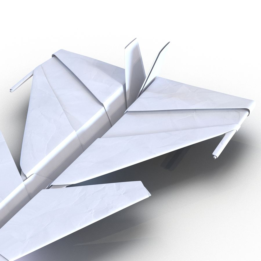 Paper Plane 4 Modèle 3D royalty-free 3d model - Preview no. 11