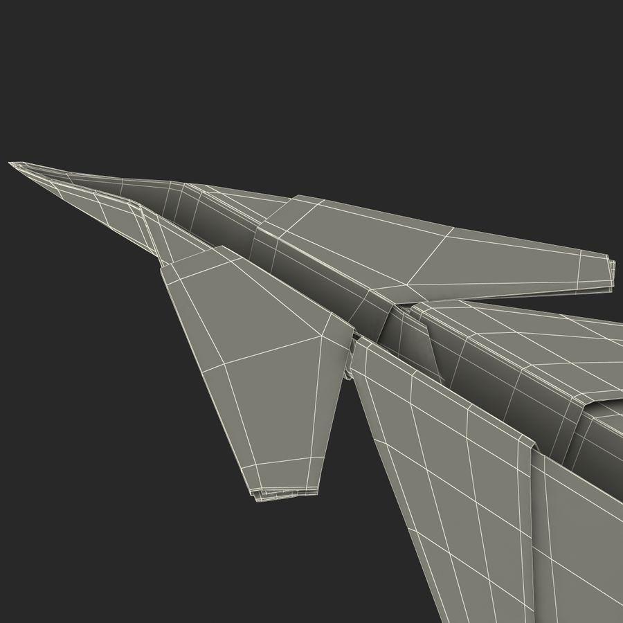 Paper Plane 4 Modèle 3D royalty-free 3d model - Preview no. 23