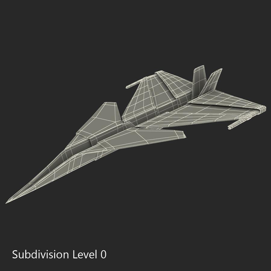 Paper Plane 4 Modèle 3D royalty-free 3d model - Preview no. 14