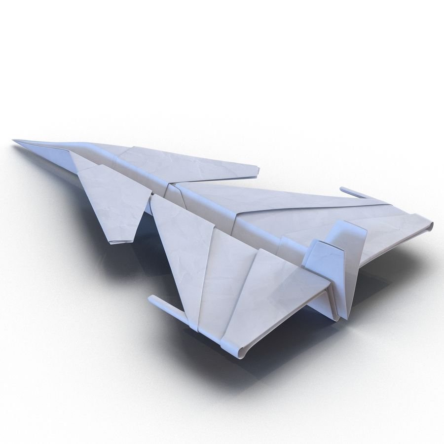 Paper Plane 4 Modèle 3D royalty-free 3d model - Preview no. 4