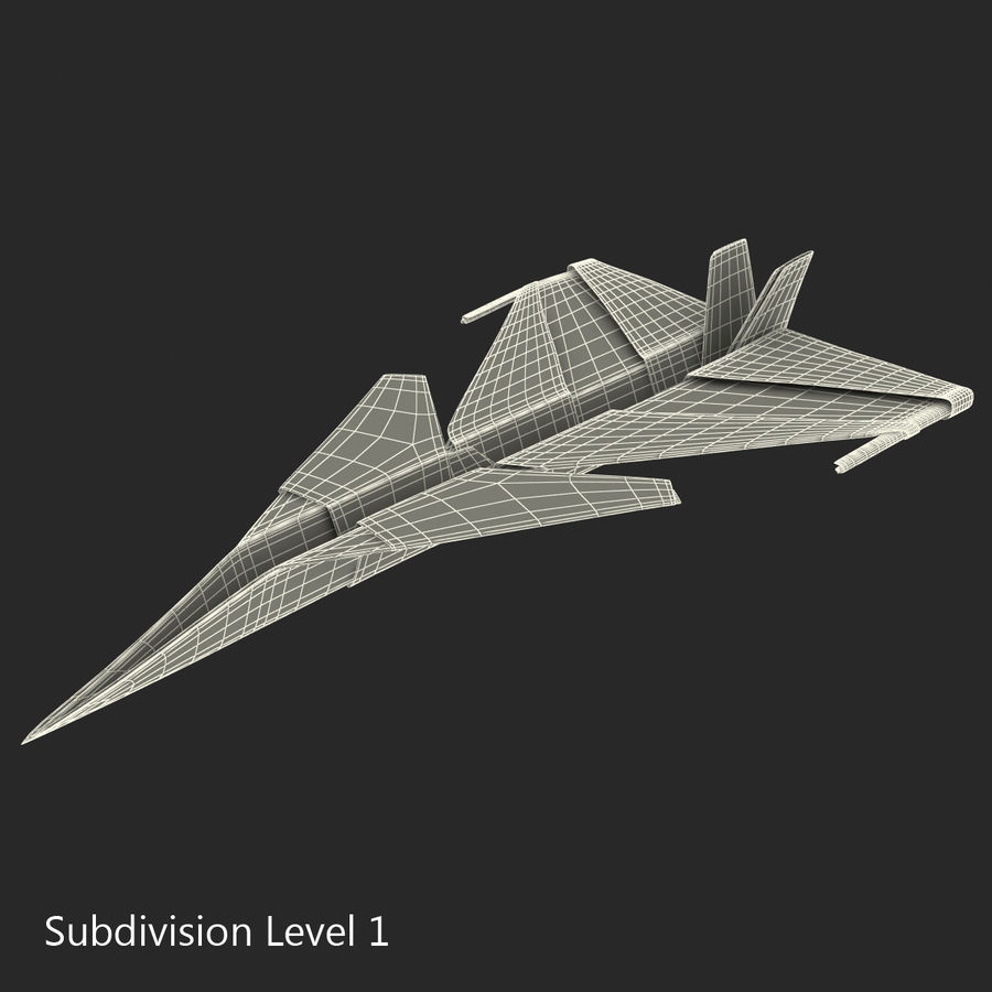 Paper Plane 4 Modèle 3D royalty-free 3d model - Preview no. 15