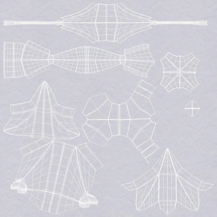 Paper Plane 4 Modèle 3D royalty-free 3d model - Preview no. 16