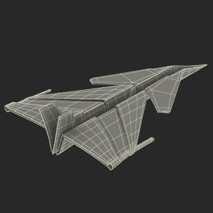 Paper Plane 4 Modèle 3D royalty-free 3d model - Preview no. 19